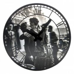 Boyle NeXtime Modern Indoor Stylish Wall Clock Kiss Me in Paris