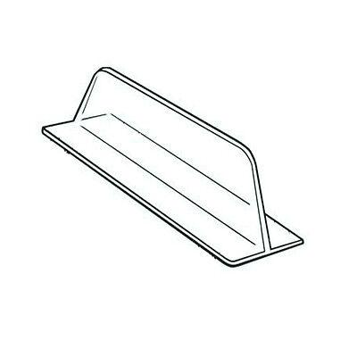 Clear Plastic Shelf Merchandise T Divider - 10 Pieces