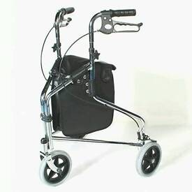 3 wheeled triangle mobility walker