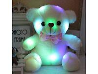 Mini Bear Cute Luminous Plush Colorful Glow Toy Bear