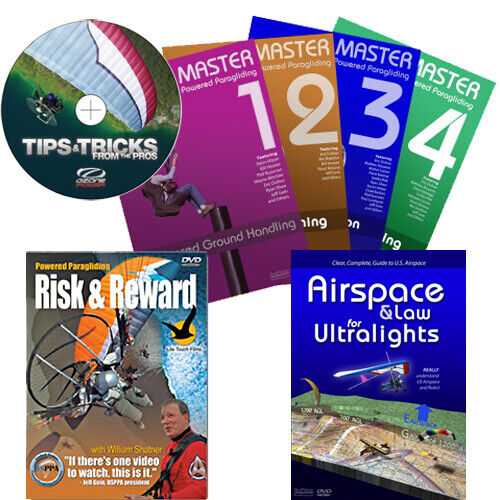 DVD Combo Master PPG 1-4, Tips & Tricks, Risk & Reward, Airspace for Ultralights