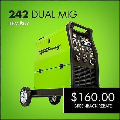 Forney 327 - 242 Dual MIG Welder, 230V, 240A