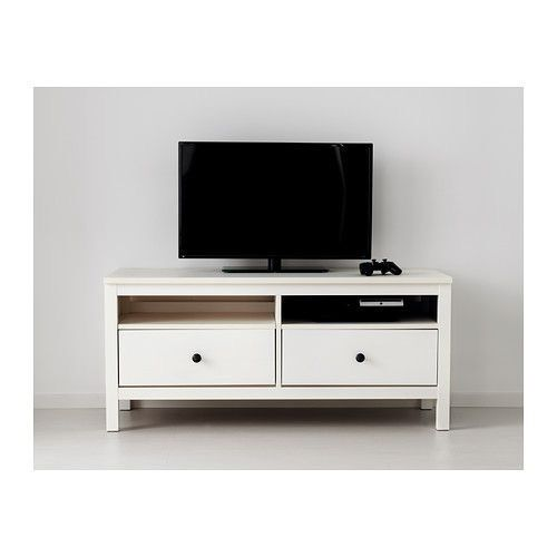 tv unit ikea white hemnes tv unit 2years old collection only tv not included in queens. Black Bedroom Furniture Sets. Home Design Ideas