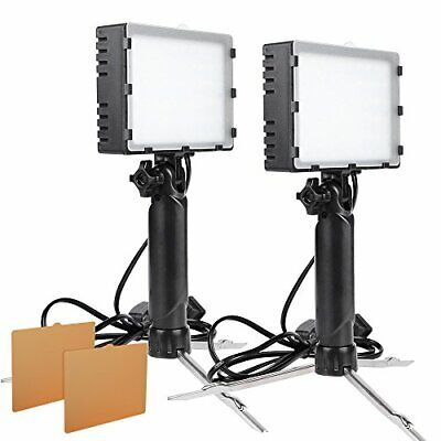 2Sets LED Portable Continuous Photography Light Kit f Table