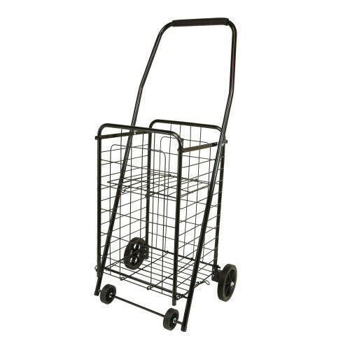 The Faucet Queen 16713 shop cart with shelf 17.5 x 12 x 38.5 inches BLACK