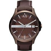 Armani Mens Watch Brown Leather