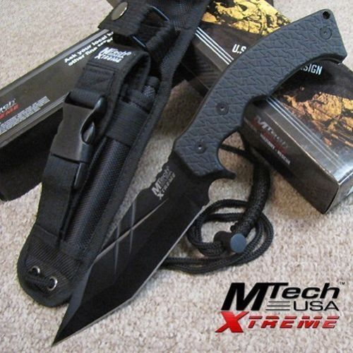 "MTech Xtreme Fixed Blade G10 Knife MX-8125BK 11"" overall, hunting, survival."
