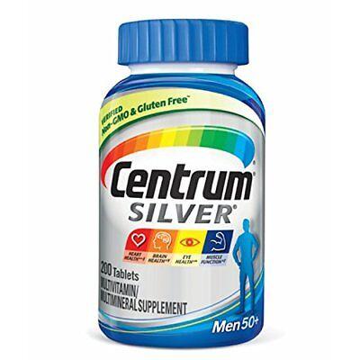Centrum Silver Men 50+ Multivitamin Supplement 200 Tablets Each