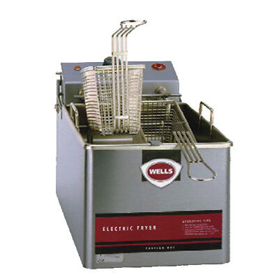 Wells Llf-14 Countertop Single Full Pot Electric Fryer - 14 Lb. Capacity