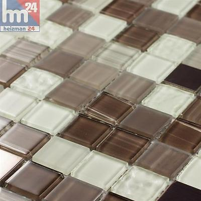 Mosaik Tolima Glas Metall Fliese / Matte 29,5 x 29,5 x 0,4 cm