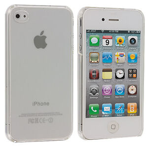 Ultra Thin Clear Crystal Snap-On New Hard Case Cover for iPhone 4 G 4S 4GS