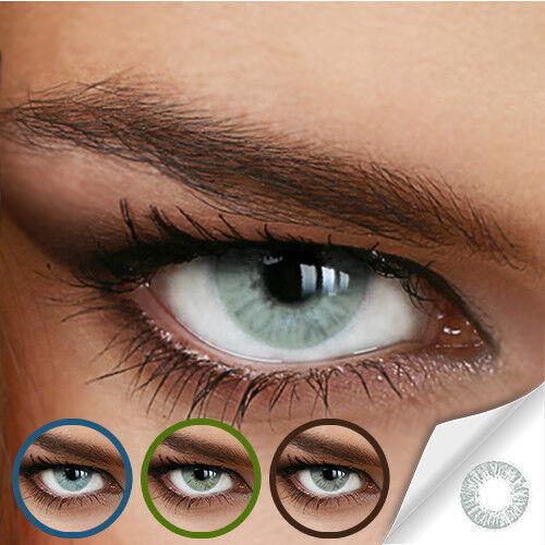 Farbige Kontaktlinsen Naturally Sweet Gray (Stärke von +5.00 DPT bis -12.00 DPT)