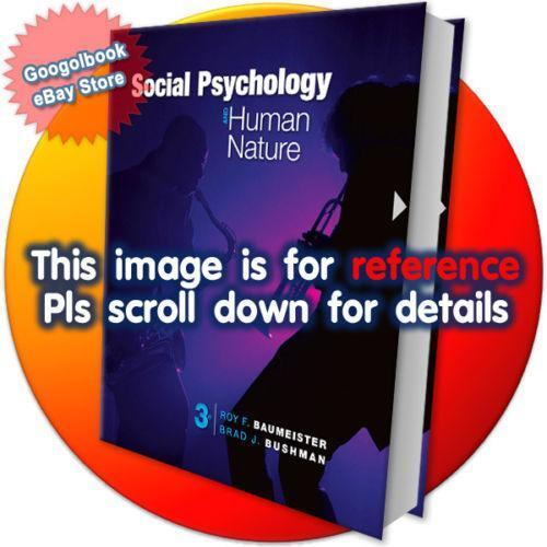 Social psychology books ebay social psychology and human nature fandeluxe Choice Image