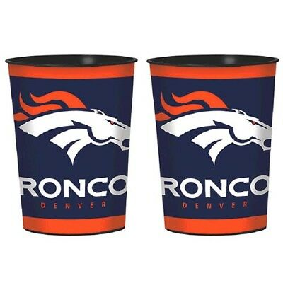NFL DENVER BRONCOS REUSABLE KEEPSAKE CUPS (2) ~ Birthday Party Supplies Favors](Nfl Party Favors)