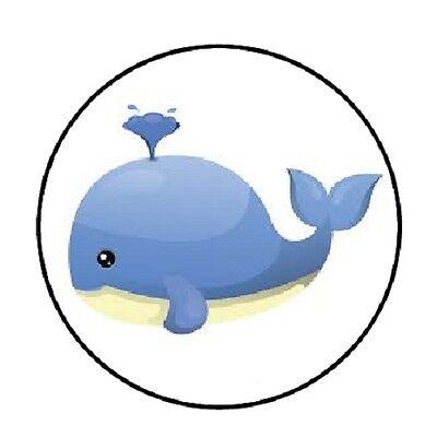 48 Blue Whale!  ENVELOPE SEALS LABELS STICKERS 1.2