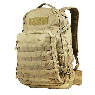 Condor 160 TAN Venture Pack Tactical MOLLE Hiking Camping Patrol Laptop Backpack