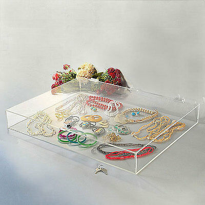 Acrylic Countertop Display Showcase Rectangular W Lock 24 14 X 18 14 X 3h