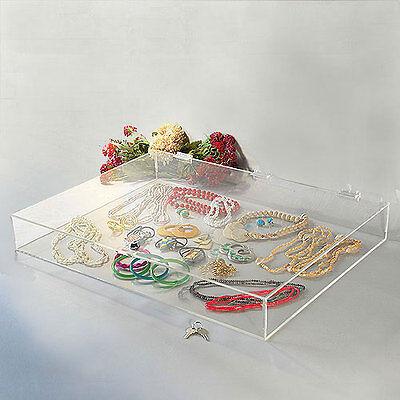 Acrylic Countertop Display Showcase Rectangular W Lock 24 14 X 18 14 X 3h