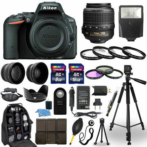 Nikon D5500 DSLR Camera + 18-55mm VR NIKKOR Lens + 30 Piece Accessory Bundle