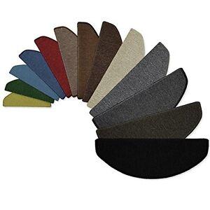 Set 15 pezzi tappeti scale passatoie per singoli gradini for Passatoie per scale legno