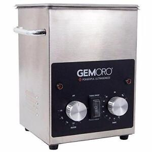 GemOro 2QTH Next Gen Stainless Steel Ultrasonic Jewelry Cleaner With Basket NEW