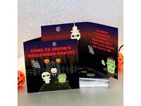 Personalised Halloween party invitations