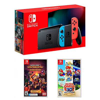 Nintendo Switch 32GB Console + Minecraft Dungeons + Super Ma