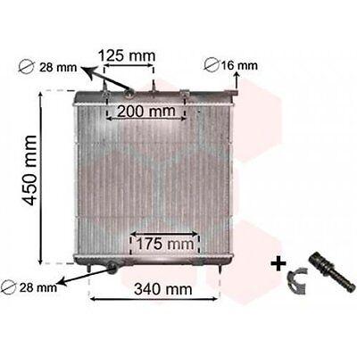 Klimaanlage   für Peugeot 208 207 2008 207 SW 1007 308 VAN WEZEL Kondensator