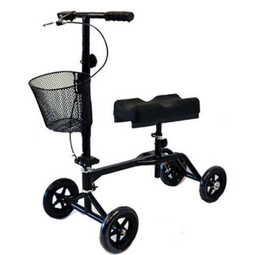 new steerable foldable knee walker black scooter