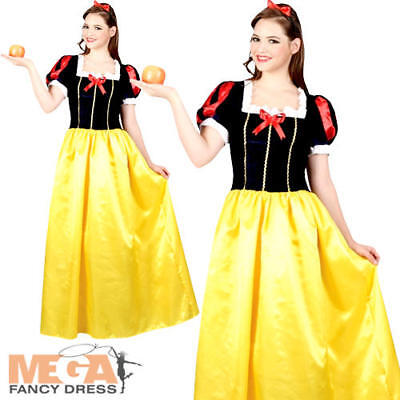 Snow White Ladies Fancy Dress Fairy Tale Princess Adults Book Day Costume Outfit - Snow White Outfit Adults