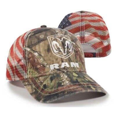 Hat Cap Licensed Dodge Corner Ram Tag USA Mesh OC