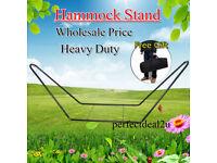 Heavy Duty Double Hammock Stand & Hammock Outside Steel Frame Easily Assembled