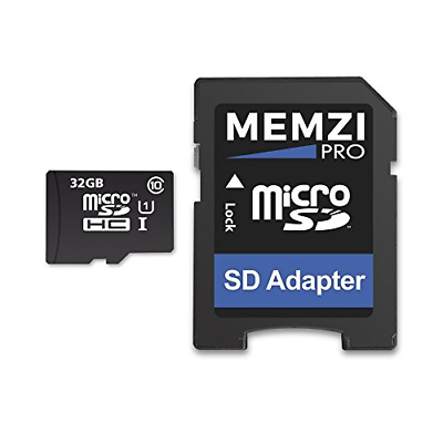 MEMZI PRO 32GB Class 10 90MB/s Micro SDHC Memory Card with S