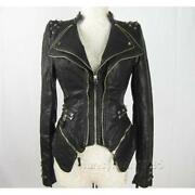 Leather Jacket Women Punk