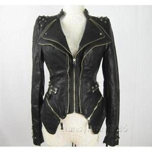 Punk Leather Jacket   eBay