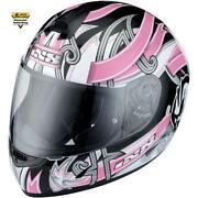 Motorradhelm Pink