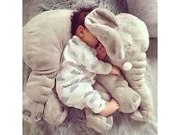 JUMBO Elephant Pillow for Baby/Toddler/Kids/Adults - large super soft stuffed toy