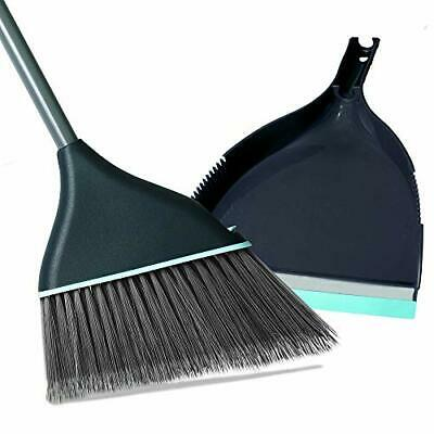 Guay Clean Angled Broom and Dustpan Set with Adjustable Handle - Easy Sweepin...