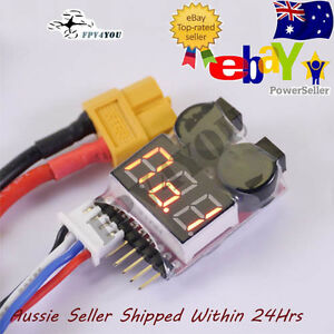 1S-8S Lipo Battery Buzzer Alarm Low Voltage Tester indicator ADJUSTIBLE VOLTAGE