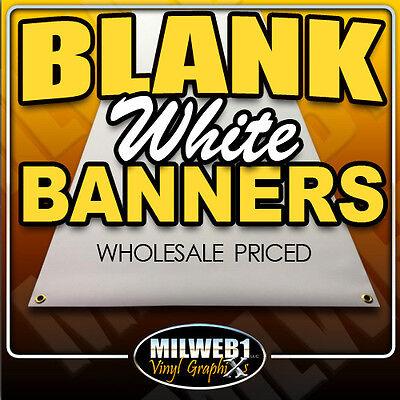 3x6 Blank Vinyl Banner 13oz White Grommets