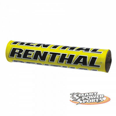 "Renthal SX Bar Pad -YELLOW- Crossbar Pad -10""- High Density Foam MX Offroad Moto"