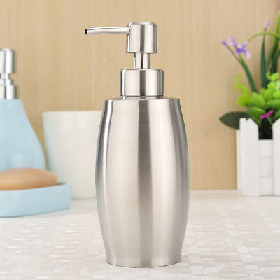 375ml Kitchen Stainless Steel Liquid Shampoo Pump Lotion Soap Dispenser Bottle