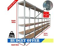 875KG HEAVY DUTY 4 BAYS 5 TIER METAL SHELVING RACKING FOR STORAGE, SHED BOLTLESS 07985552862