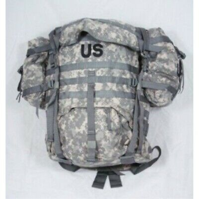US GI Military ACU Molle II Large RuckSack with Frame, Kidney Pads and 2 Pouches