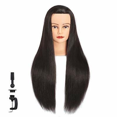 Cosmetology Mannequin Head 100 Human Hair Hairdresser Training Super Long 26-28 - $26.27