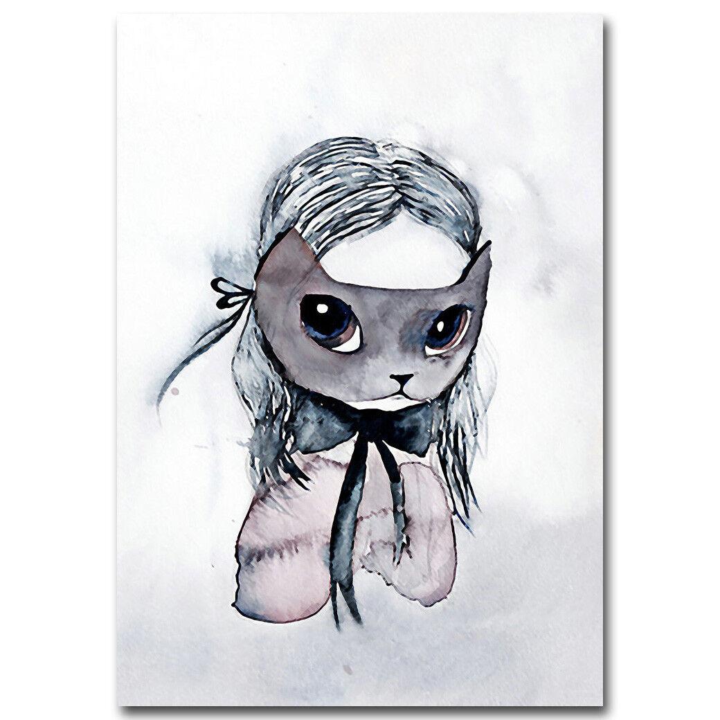 Nursery Cartoon Canvas Art Prints Poster Kawaii Picture Children Room Decoration