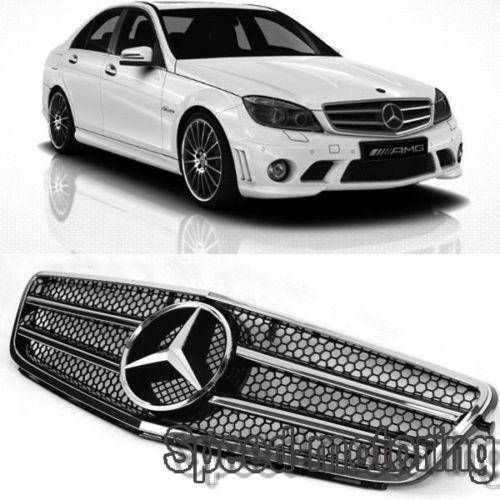 Mercedes c class w204 grill ebay for Mercedes benz c300 grill