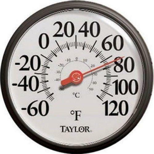 Outdoor Thermometer And Clock Decorative