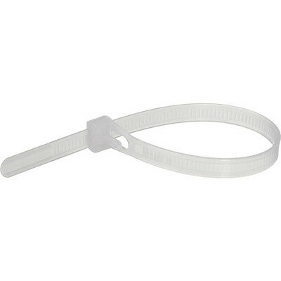 Pearstone 12 Reusable Plastic Cable Ties - Clear 100-pack