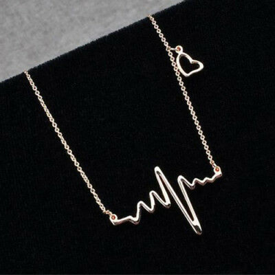 Women's Alloy Heart Beat Pendant Chain Choker Collar Bib Jewelry Necklace Cheap](Cheap Necklaces)